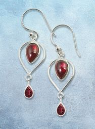 Celtic Holiday - Garnet Flame Earrings