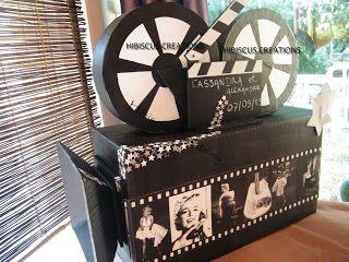 HIBISCUS CREATIONS DECO: Urne Camera mariage theme cinema Marilyn Monroe https://www.facebook.com/hibiscus.creations.3/photos_albums