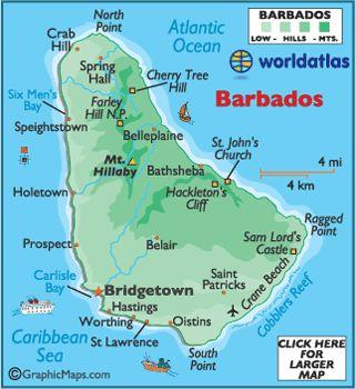 Best Barbados People Ideas On Pinterest Bridgetown Barbados - Barbados earth map