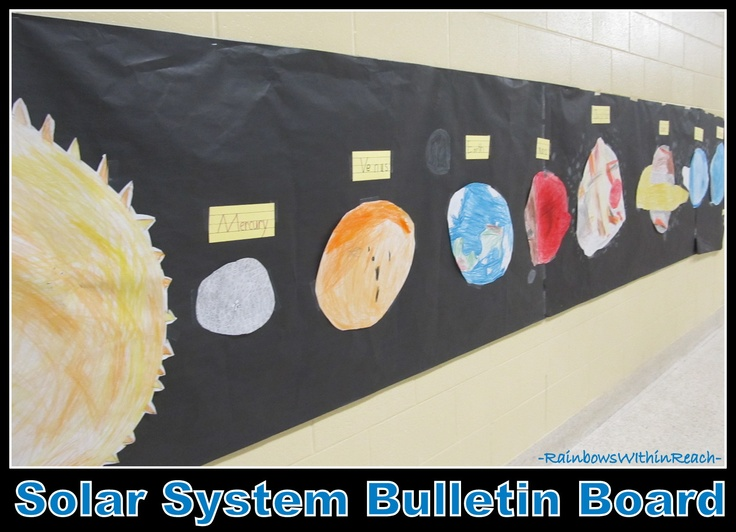 Solar System Bulletin Board (Planets) from Bulletin Board RoundUP via RainbowsWithinReach
