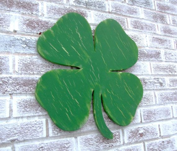 St. Patrick's Day Decoration LARGE  wood shaped by CutItOutJeff, $59.00