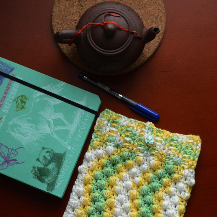 Crochet case Dandelion for Ipad | My Shop | Vse kruchkom | by Anastasia Zhivitca #crochet #dandelion #foripad #case #чехолдляпланшета #чехолдляайпада #чехолдляIpad #вязаный крючком #чехол #вязаниекрючком #купитьхендмейдчехол #Спб
