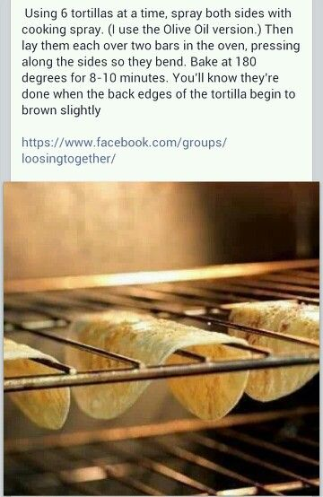 Taco --> just an image, no link, but this is a cool way to bake taco shells. Well ain't that nifty!