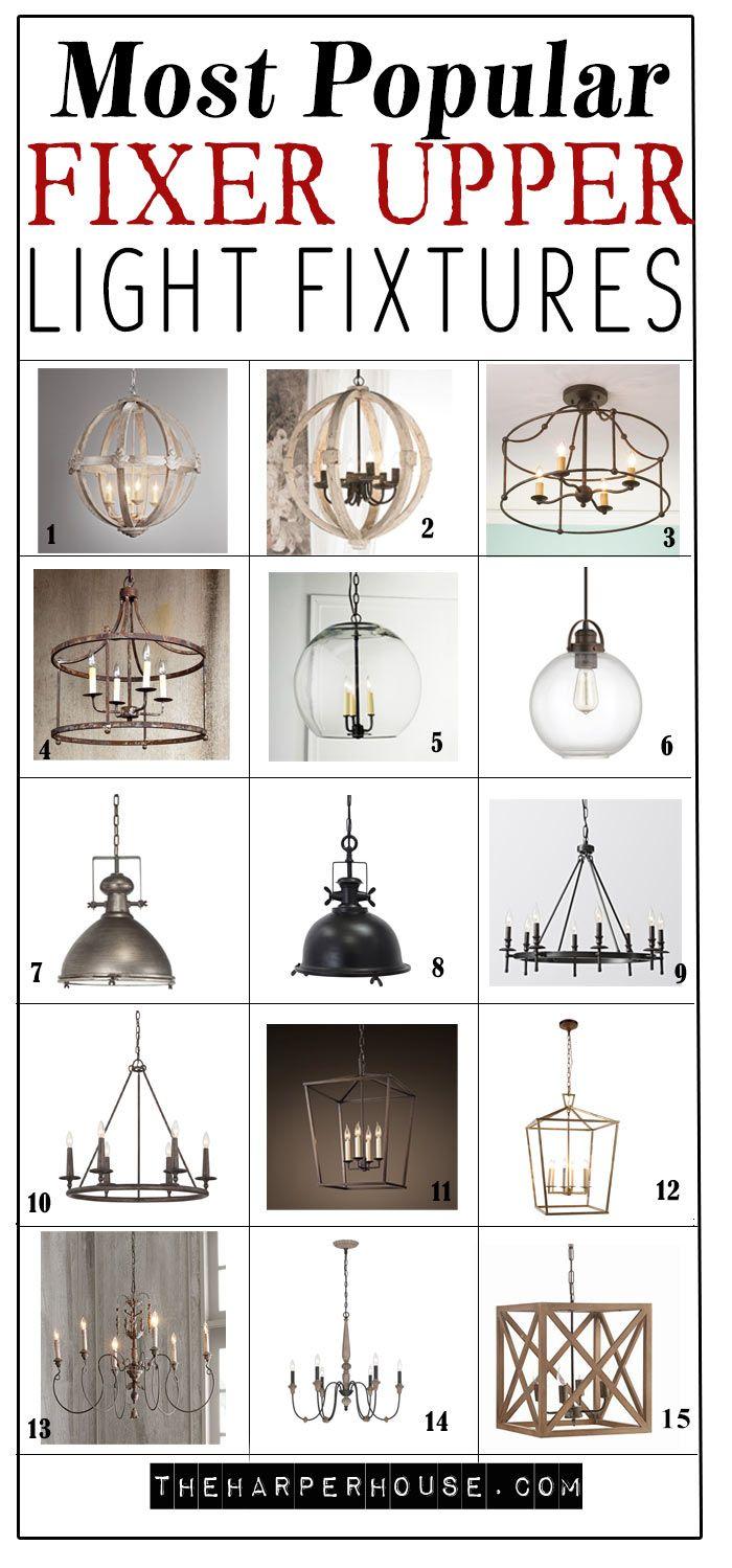 Favorite Light Fixtures For Fixer Upper Style Fixer Upper Light