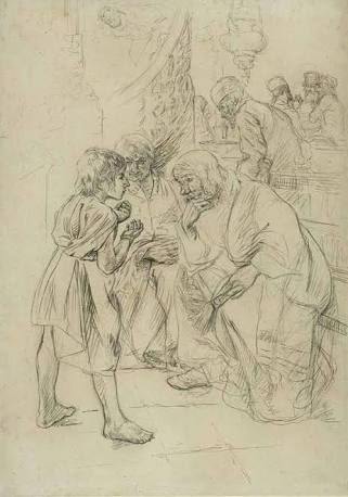 Image result for max liebermann jesus in the temple original painting