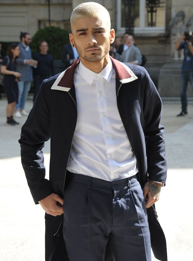 Zayn Malik pictured outside Valentino's spring-summer 2016 menswear show.
