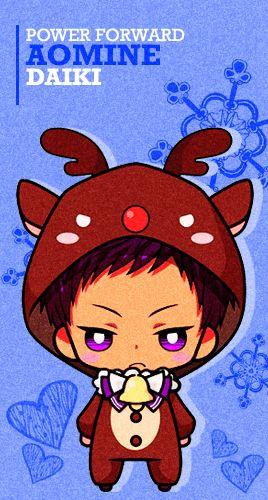 Aomine Reindeer Chibi - Cuteeee >w<