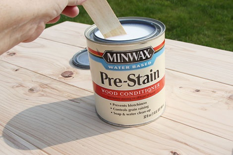 1.  How To Paint Furniture | Minwax Water Based Stain - Gray | Ana White - Homemaker