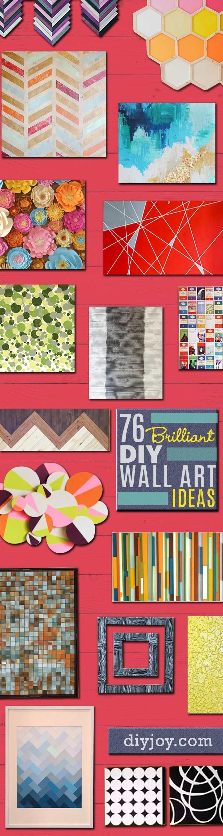 76 brilliant diy wall art ideas for your blank walls do for Do it yourself wall mural