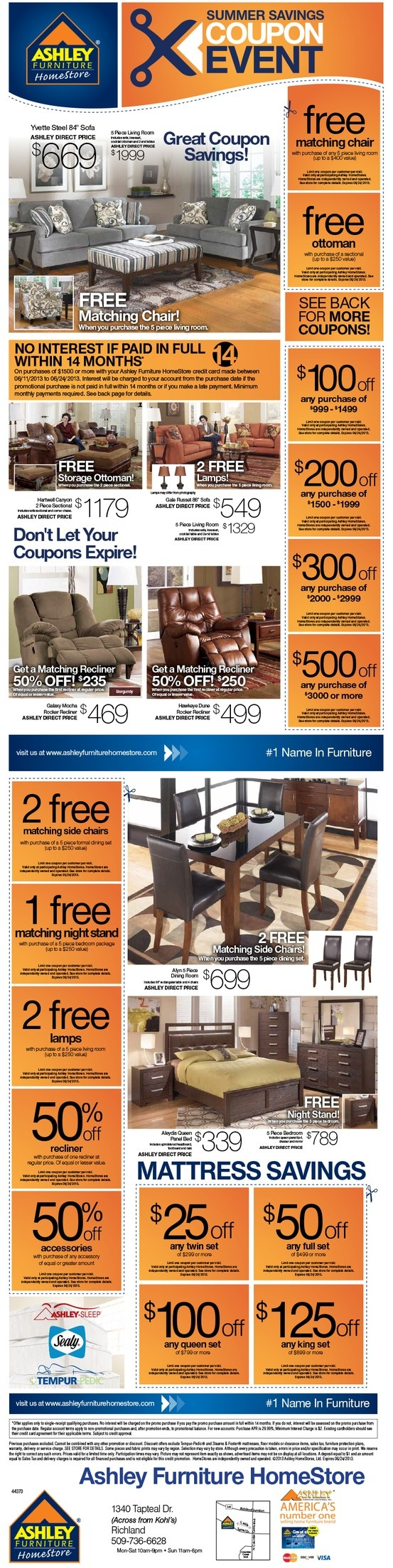 Ashley furniture discount coupons online