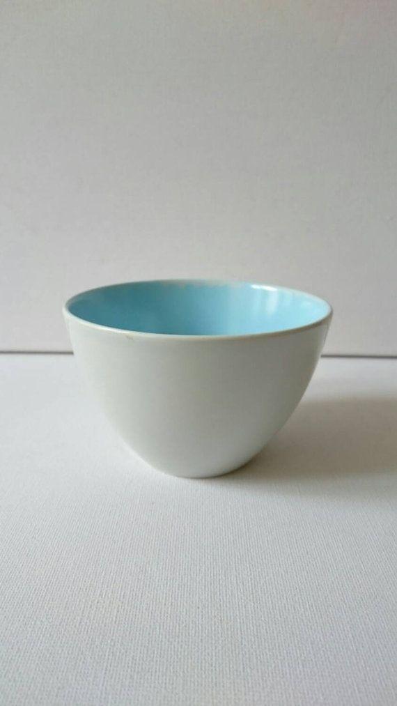Stylish Poole Pottery Twin Tone Sugar Bowl