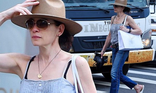 Julianna Margulies cuts a casual figure in pleated tank top and jeans (Daily Mail) https://apple.news/Ayvqnn7dDRuelJduP7Q_VLw?utm_content=bufferadc0c&utm_medium=social&utm_source=pinterest.com&utm_campaign=buffer