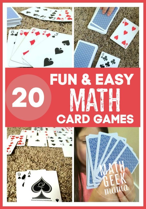 Huge Collection Of The Best Math Card Games Math Card Games