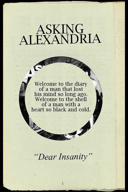 Band: asking Alexandria am I a fan: yeah first song/favorite: dear insanity rate:9