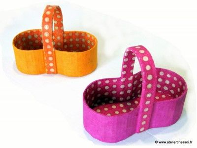Tutoriel : petits paniers en carton [Patron offert] - Créer ses meubles en carton