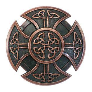 celtic shield | Ancient Celtic Shield Round Knots Cross Belt Buckle BUC070