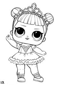 LOL SURPRISE DOLL COLORING PAGES: Center Stage LOL Doll