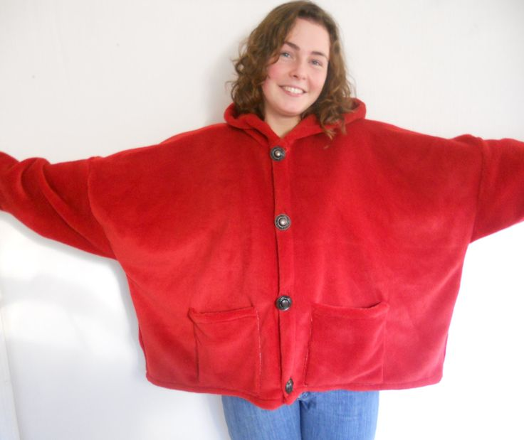 Excited to share the latest addition to my #etsy shop: Winter coat, a short coat, a comfy plus size coat,made in Ireland, a wonderful piece of fleece clothing,one of our warm jackets
