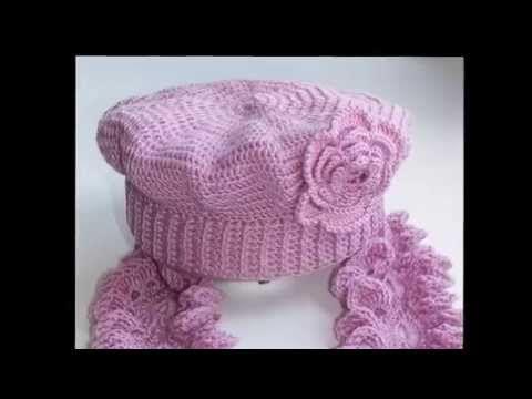Берет с бисером Вязание крючком для начинающих Crochet beads beret - YouTube