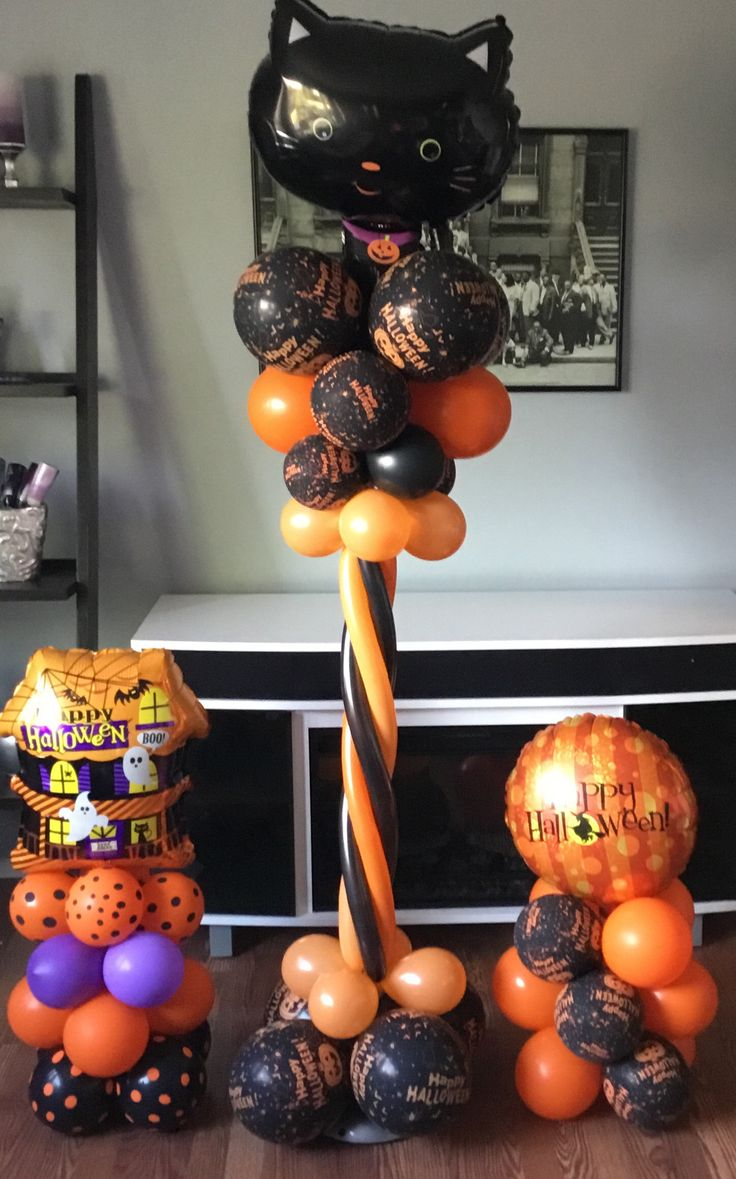 The 25 best halloween balloons ideas on pinterest for Balloon decoration for halloween