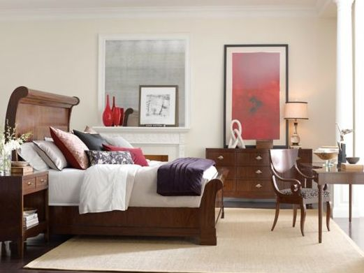 """Henredon stylish and unique Sleigh Bed. """"Define your personal space and let your home furnishings reflect who you are."""""""