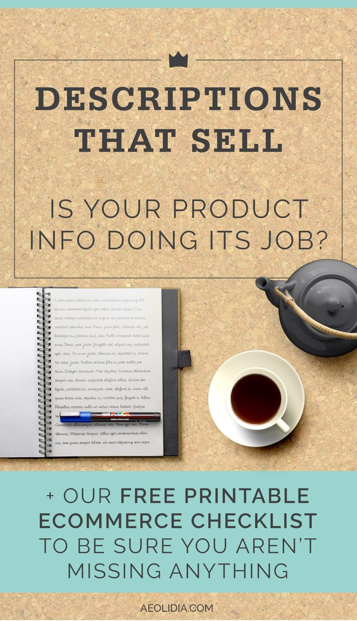 Your product descriptions are very important tools to convince your customers to go from browsing to shopping. Are yours doing their job, or could they use some brushing up? Today I have a link roundup from some of my favorite small business resources that should get you off to a great start with a challenging task.