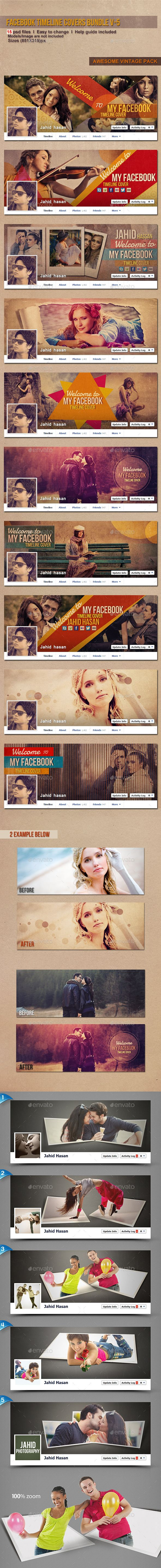 FB Timeline Covers Bundle V-5