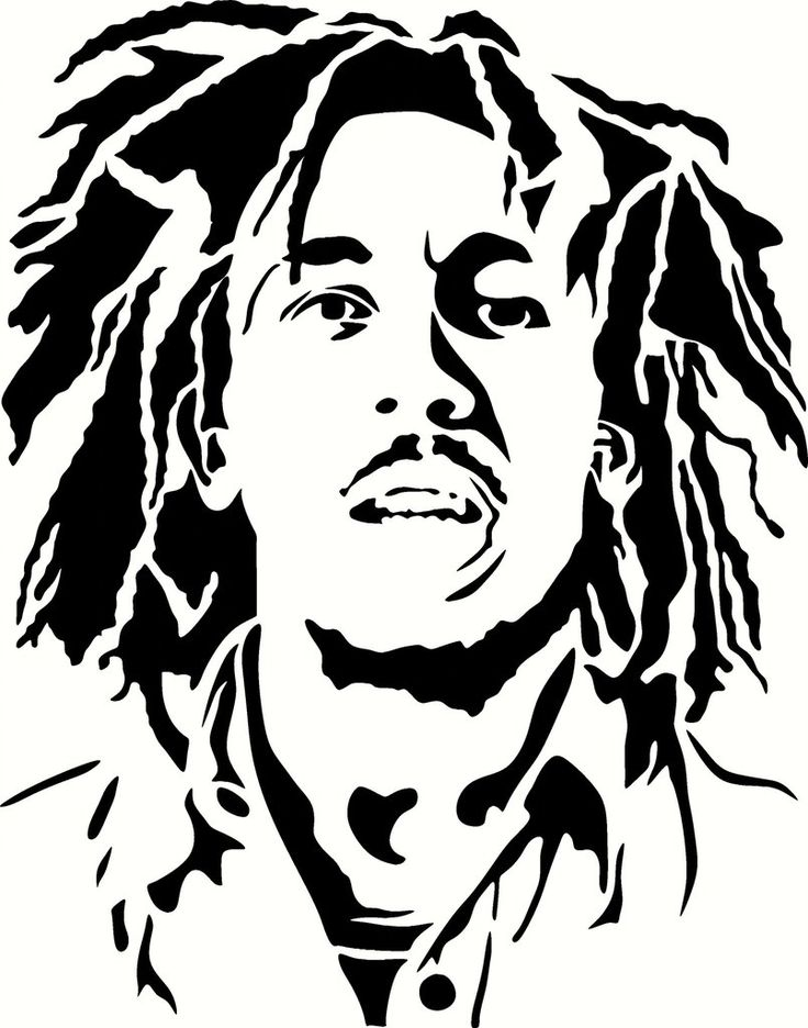 Young Bob Marley Vinyl Decal Graphic - Choose your Color and Size