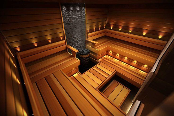 Tyylikäs ja tunnelmallinen sauna