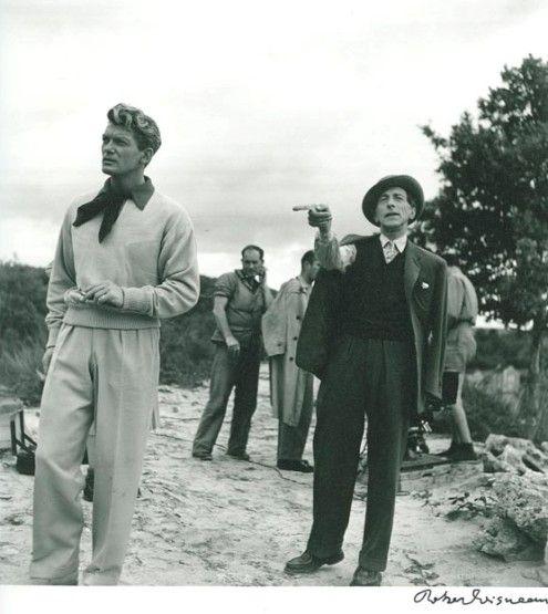 Jean Cocteau + Jean Marais, 1949. Photo by Robert Doisneau