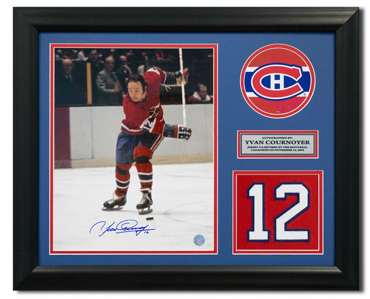 Yvan Cournoyer Montreal Canadiens Signed Retired Jersey