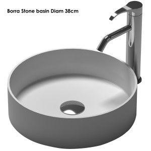 Borra Counter Top basin Diam 38cm iStone Solid Surface