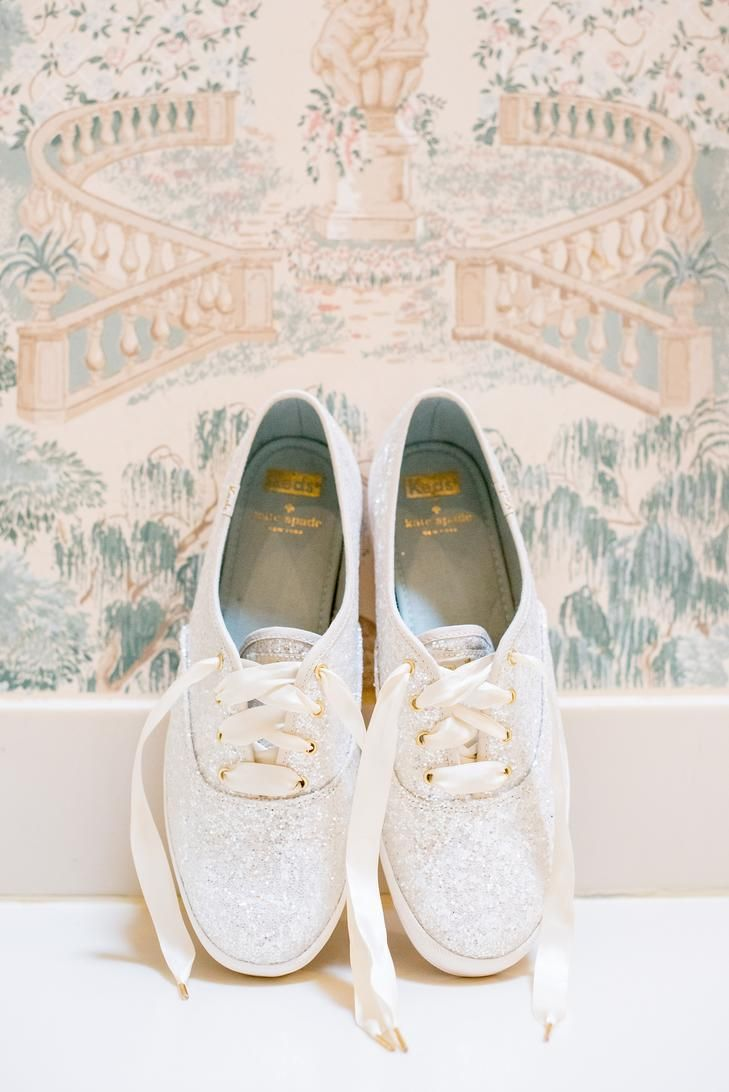 If you want to dance all night at your reception, get these sparkly Kate Spade sneakers that are adorable and comfortable.