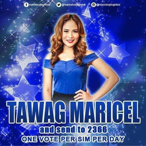 Today (Monday 03/06/17) is the start of the grand finals of Tawag ng Tanghalan in Showtime. The only contestant from MINDANAO. Maricel is one of the home grown artists here in Pagadian City Zamboanga del Sur. There is a new mechanic of the show that the contestant with the most number of votes today will directly proceed to the final battle on Saturday. Let us all support our very own... let us all cast our votes right away after Maricel's performance today. THANK YOU! To vote just text…