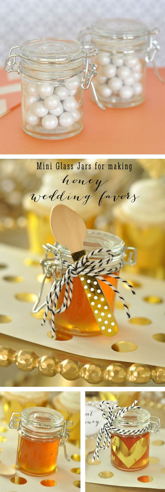 Honey Wedding Favor Jars  DIY Mini Honey Jar Favors by ModParty