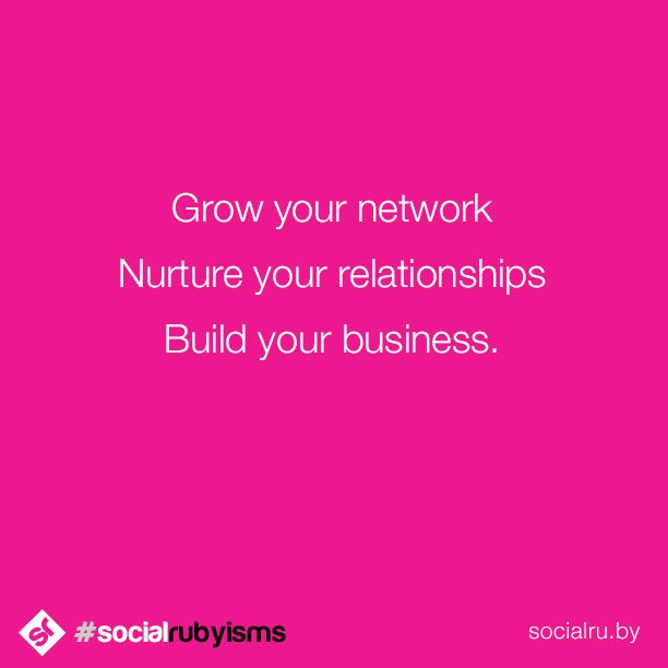 Authentic, long-term success comes from establishing real relationships. Grow your network, nurture your relationships and you will build your business.