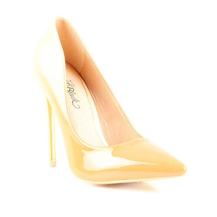 Nude High Heeled Ladies Court by Miss Black Footwear.