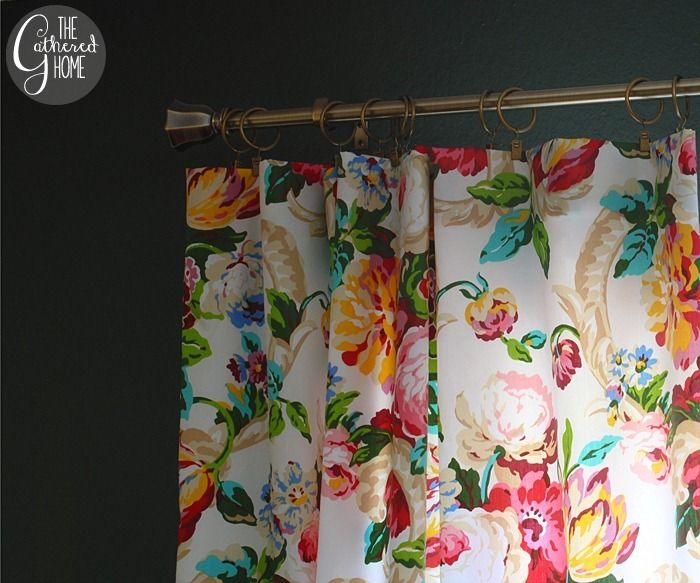 Wouldnt this be a bright cheery laundryroom ?      Dining Room Updates: Floral Curtains