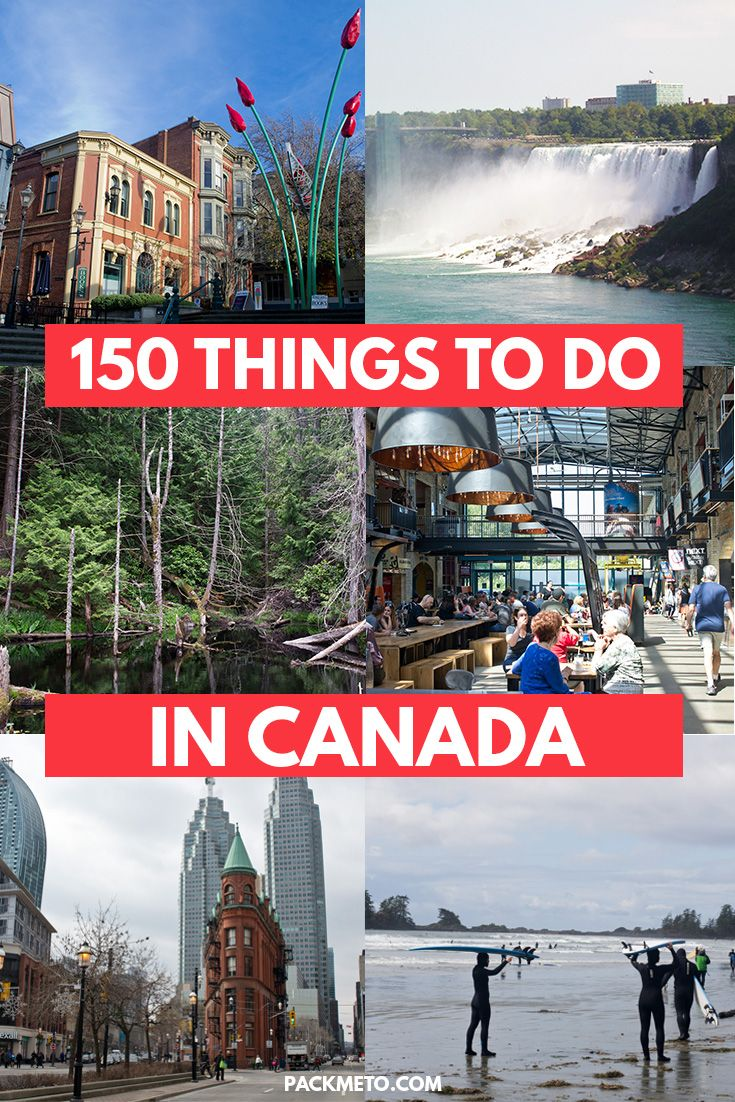 Looking for inspiration for you Canadian adventure? Here are 150 awesome things to see, do and taste in Canada | via @packmeto