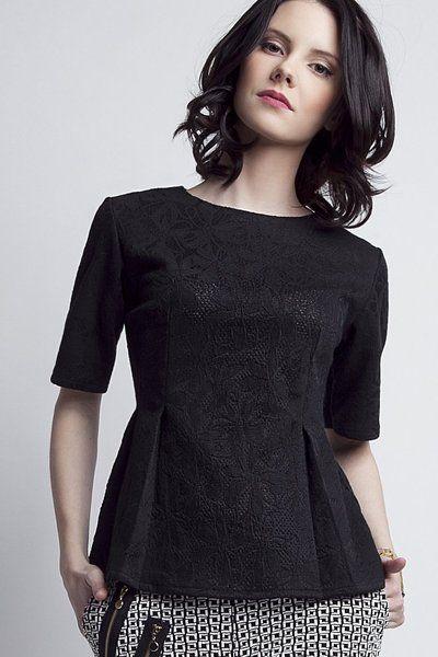 Kanten blouse BLU 120 van Lanti op DaWanda.com