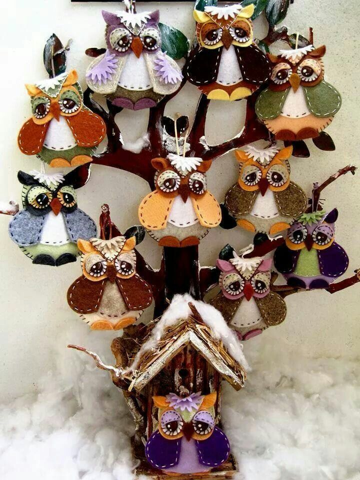 1332 Best Images About Christmas Owls On Pinterest