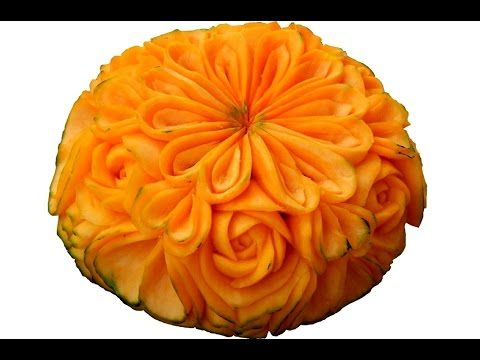 Make Apple Dianthus Flower - Advanced Lesson 22 By Mutita Art Of Fruit And Vegetable Carving - YouTube