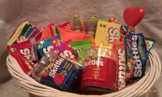 Skittles Gift Basket from Connie's Creations | Skittles Gift ...