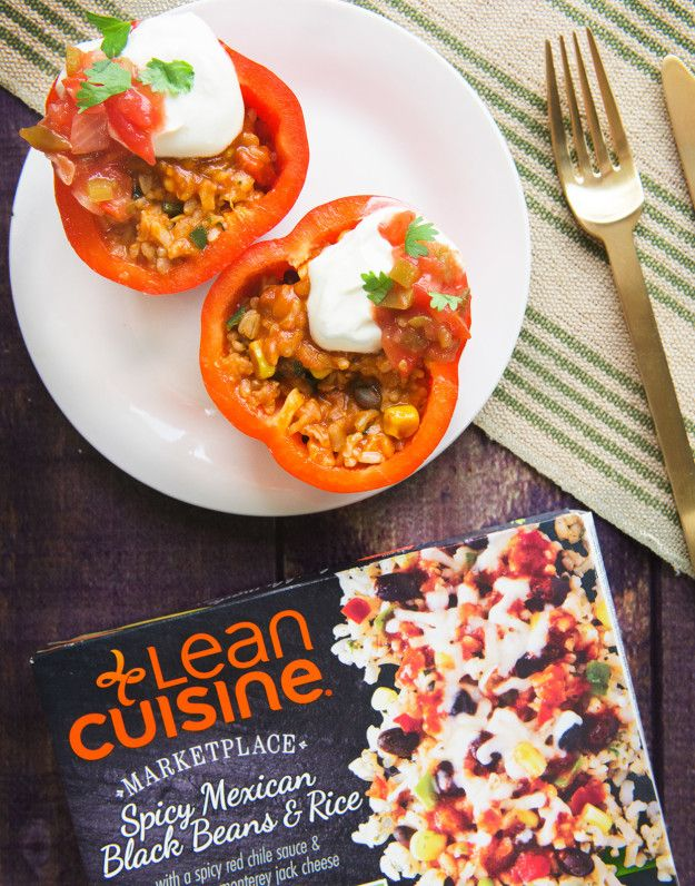 Try out this Lean Cuisine food hack for our Spicy Mexican Black Beans and Rice recipe. Add sliced Italian sausage for some added protein and garnish with arugula.