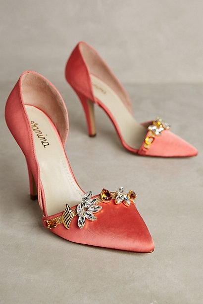 Vanina Embellished Esca Heels #anthropologie