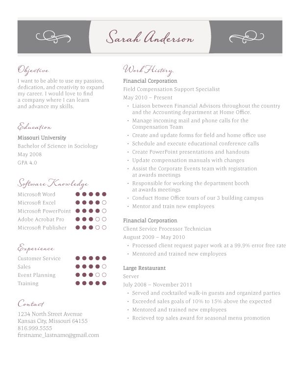 190 Best Images About Resume Design & Layouts On Pinterest