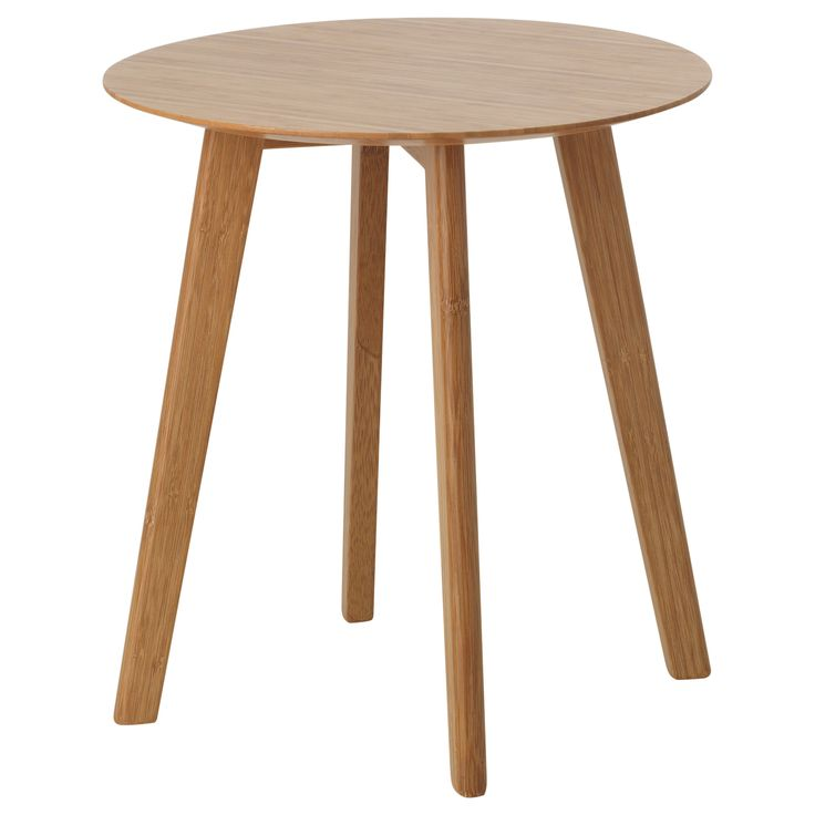 George Oliver Ripton Mid Century Modern Coffee Table: IKEA FINEDE Side Table Bamboo. Mid Century Modern