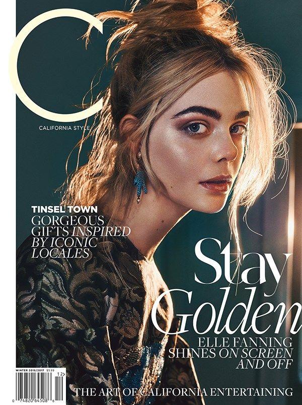 Elle Fanning for C Magazine Winter 2016 Cover