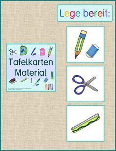 Frau Locke: Lege bereit - Materialkarten für die Tafel