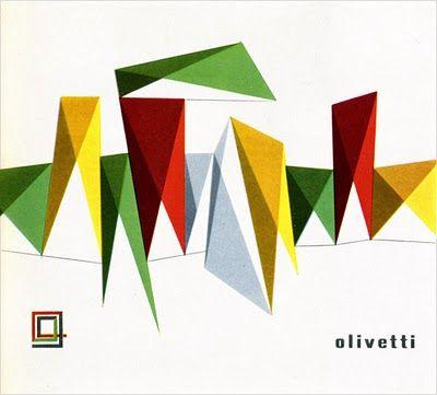 Olivetti booklet cover designed by Giovanni Pintori.  1 9 5 7